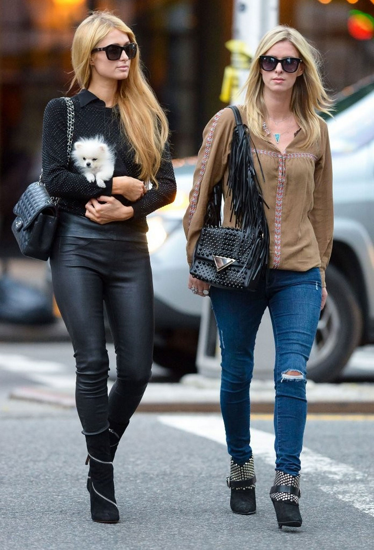 Paris and Nicky Hilton were spotted in New York City
