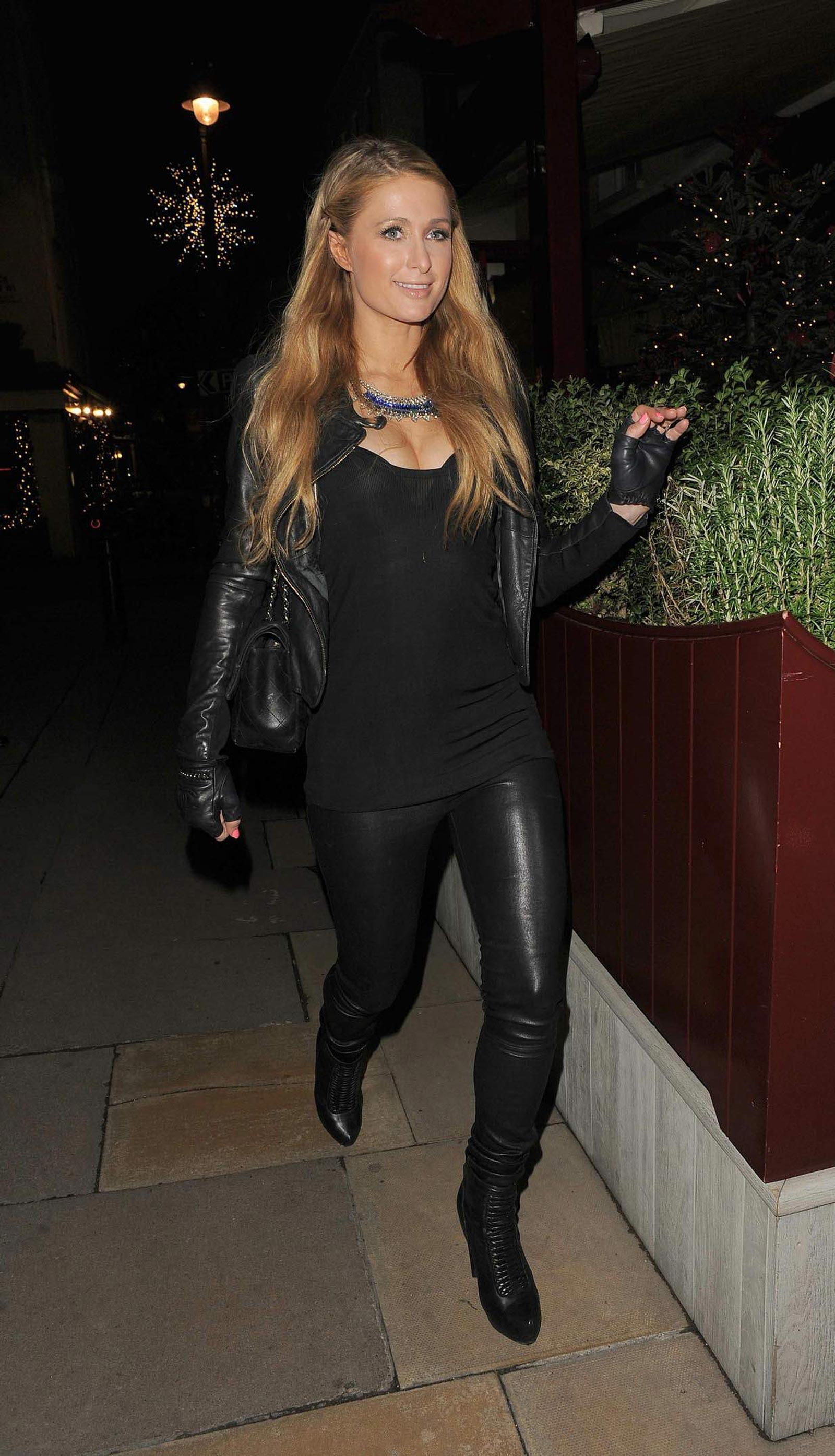 Paris Hilton out in London