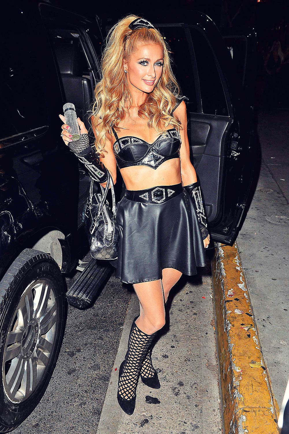 Paris Hilton goes to Bootsy Bellows Halloween Party
