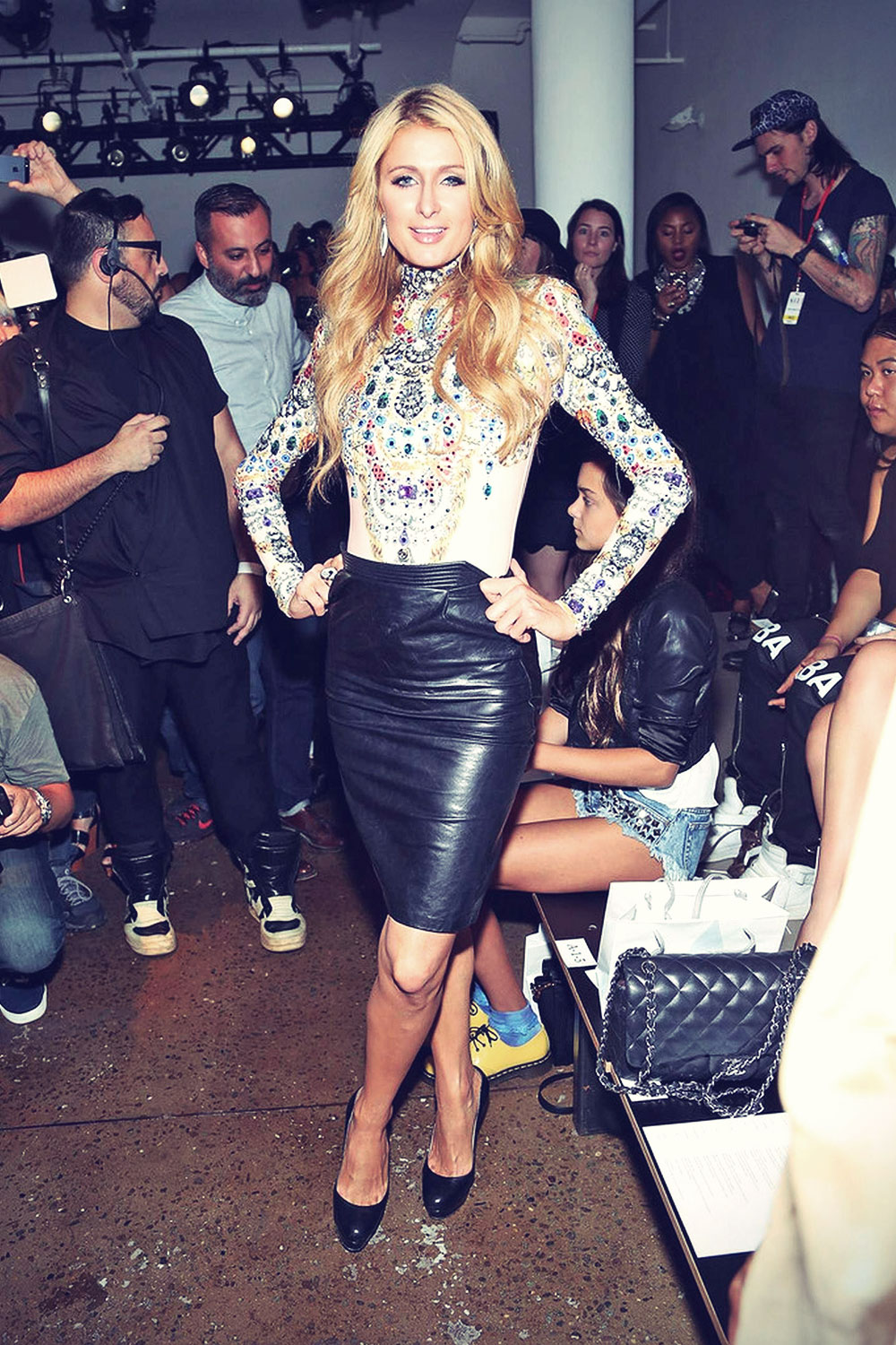 Paris Hilton attends The Blonds Spring 2015 Fashion Show