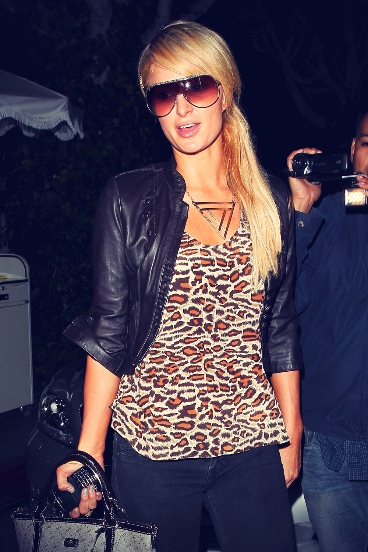 Paris Hilton leave The Ivy Restaurant