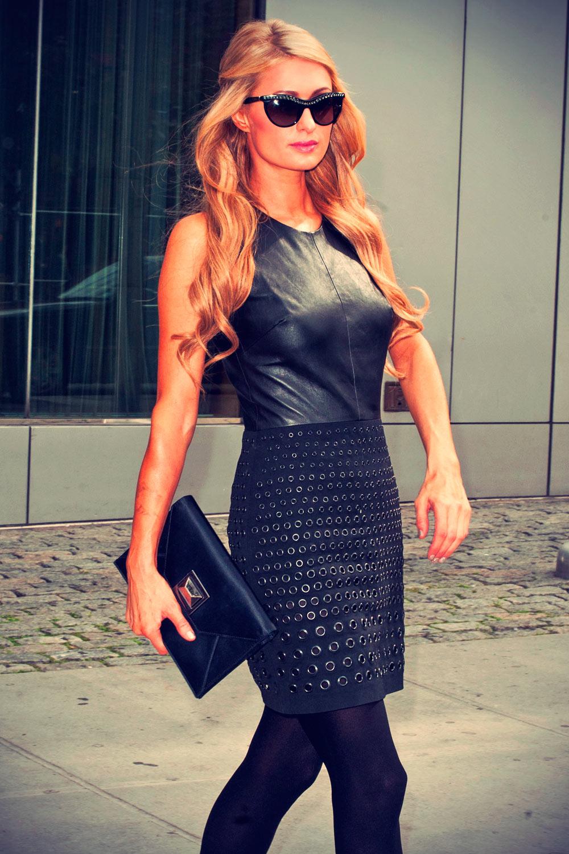 Paris Hilton leaving a New York City Hotel