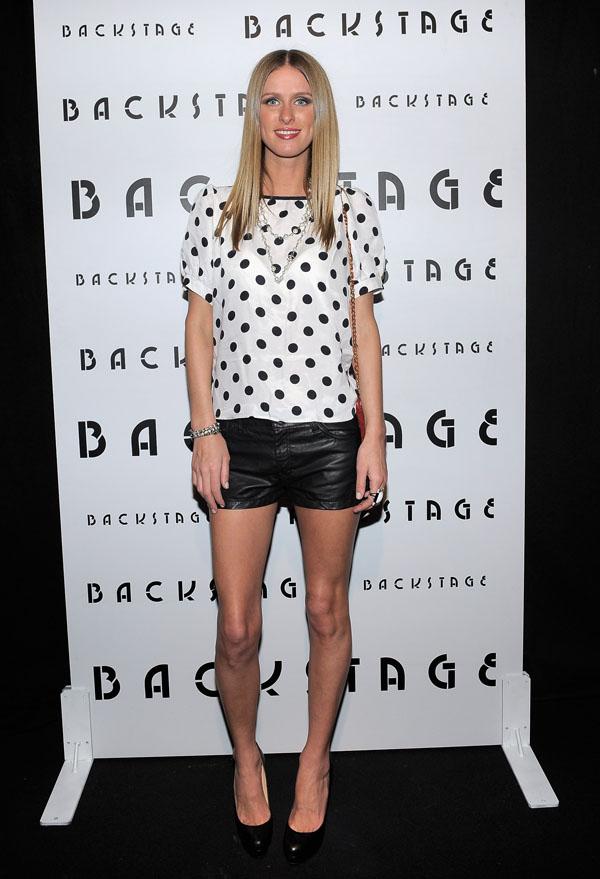 Paris Hilton, Allison Melnick and Nicky Hilton attend Backstage Presents Allison Melnick at Trousdal