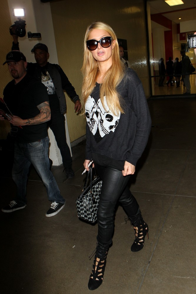 Paris Hilton was seen at LAX