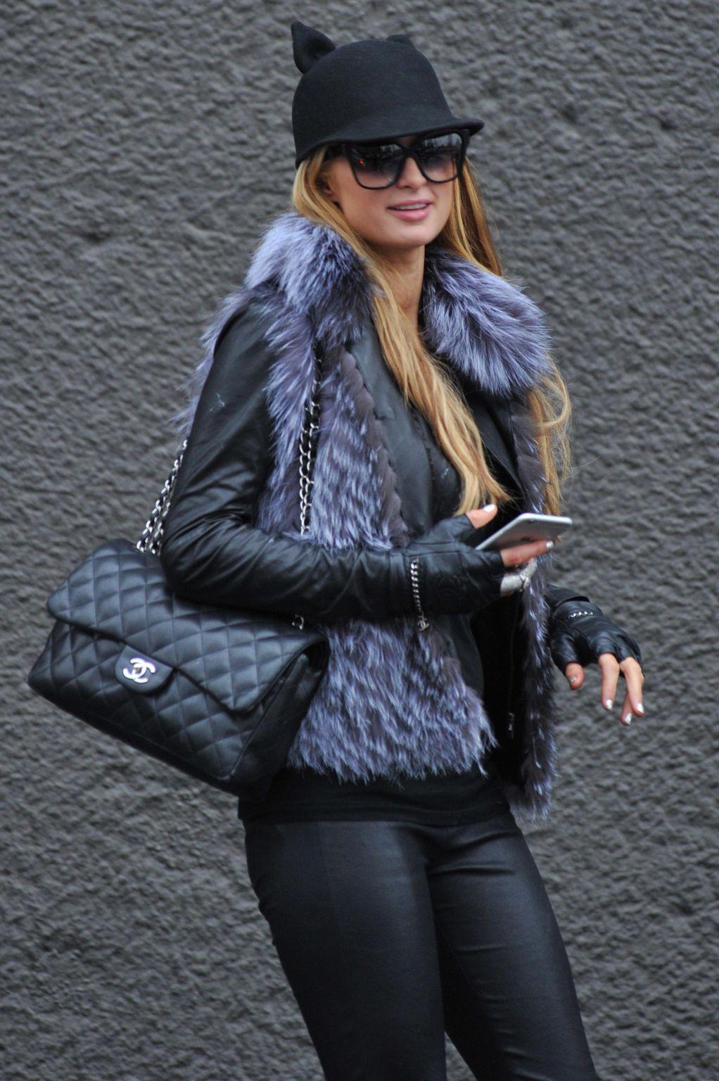 Paris Hilton seen in Milan