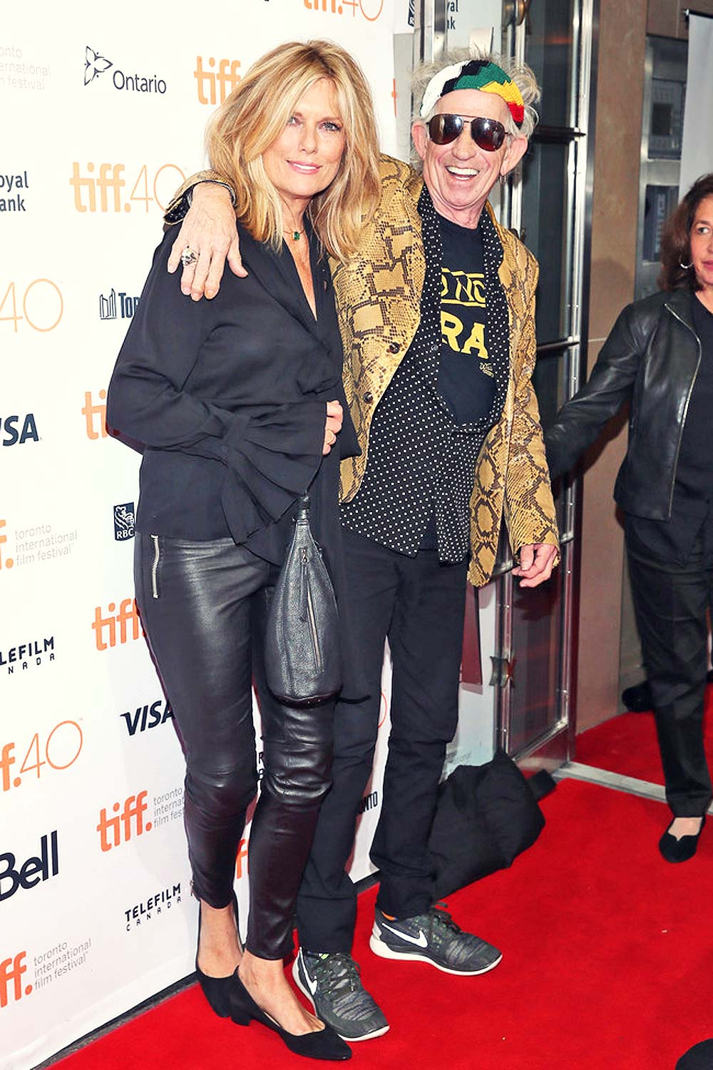 "Patti Hansen attends the ""Keith Richards: Under The Influence"" premiere"
