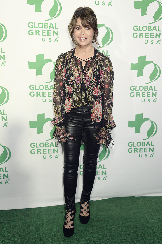 Paula Abdul attends 14th Annual Global Green Pre-Oscar Party