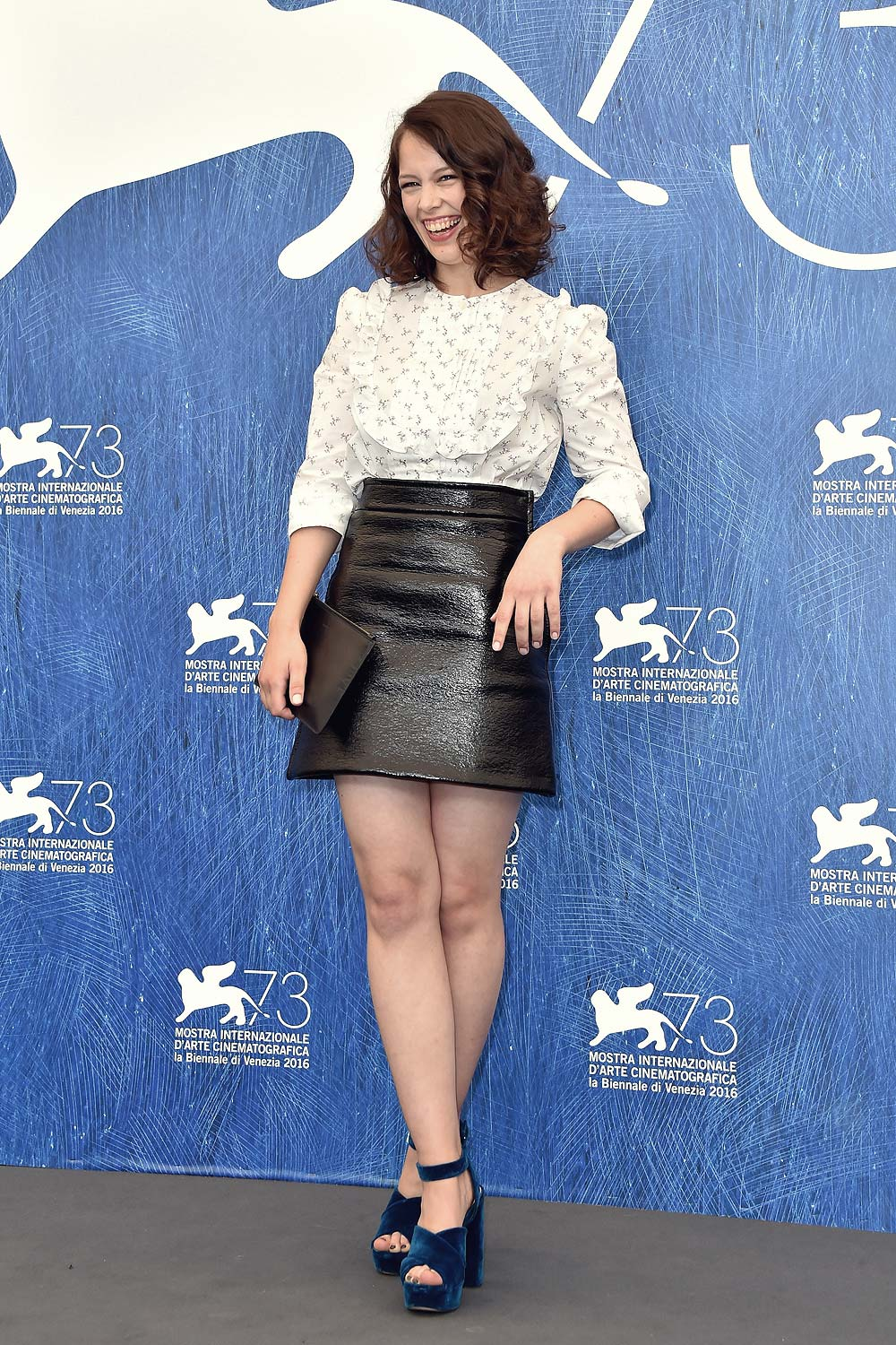 Paula Beer Attends The 73rd Venice Film Festival Leather