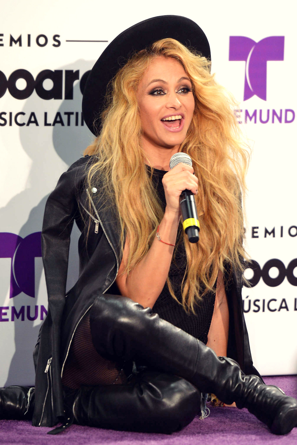 Paulina Rubio attends Billboard Latin Music Awards