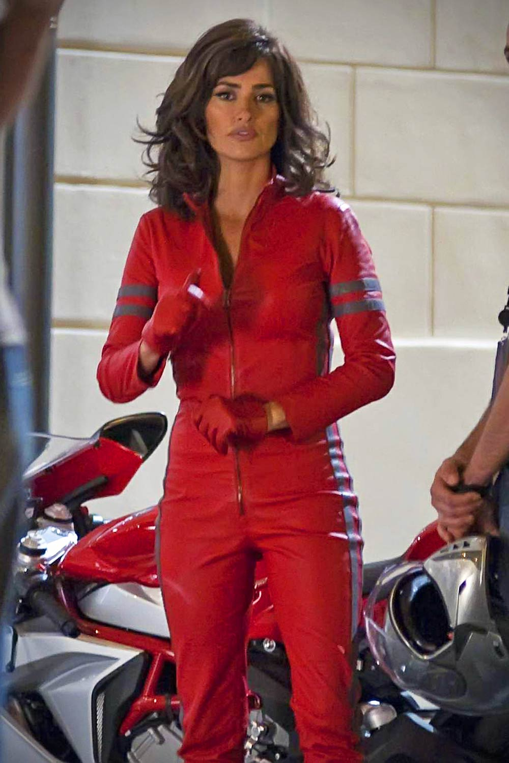 Penelope Cruz Filming Scenes For Zoolander 2 Leather