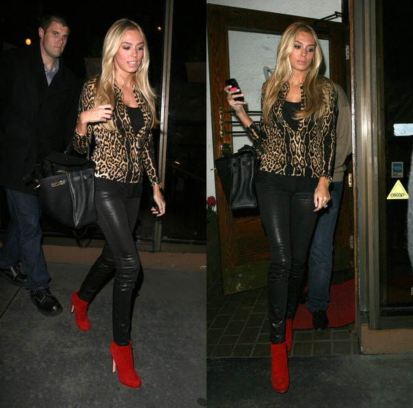Petra Ecclestone at Madeo restaurant in West Hollywood