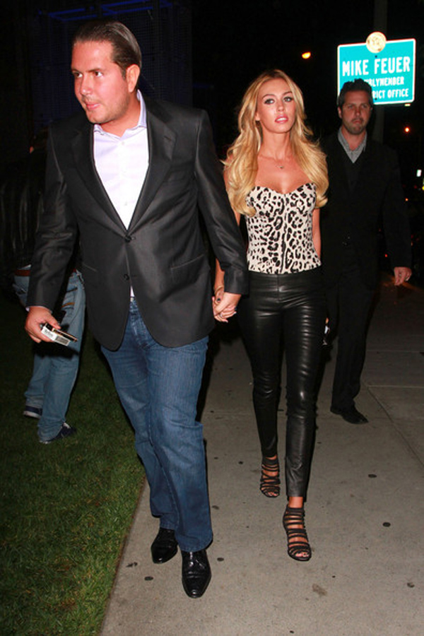 Petra Ecclestone eaves the trendy Boa steakhouse in LA