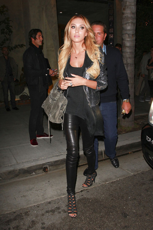 Petra Ecclestone leaves Spagos after having dinner