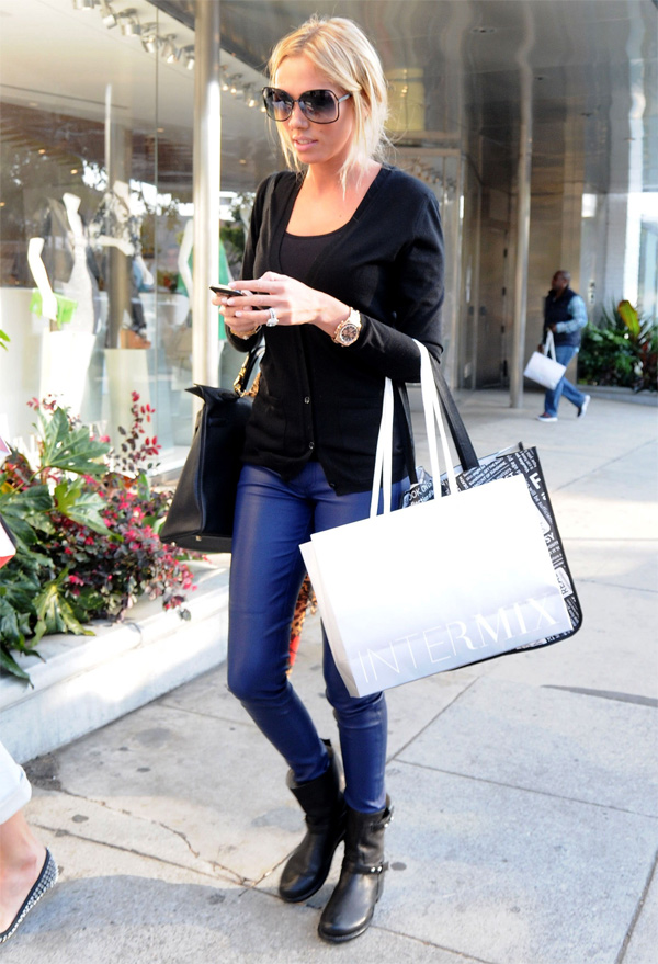 Petra Ecclestone out shopping on Robertson Boulevard