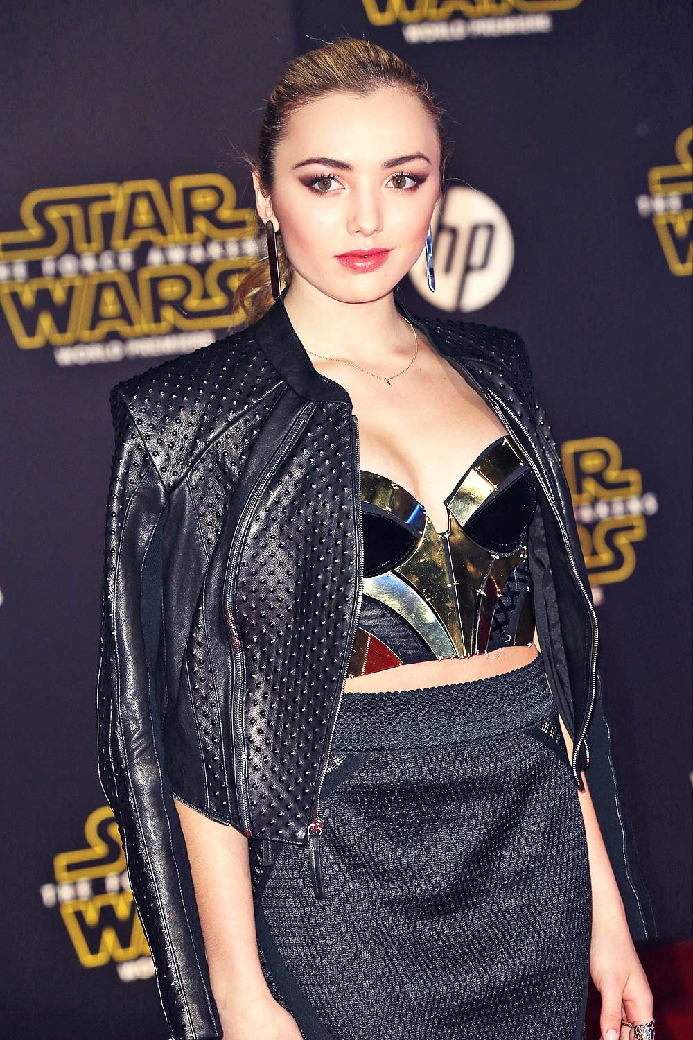 Peyton List attends premiere of Star Wars The Force Awakens