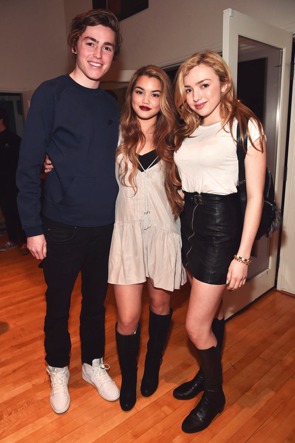 Peyton list leather peyton roi list attends premiere party of disney xds lab rats elite force m4hsunfo