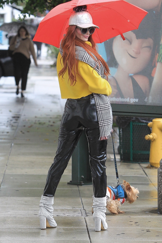 Phoebe Price takes her dog shopping
