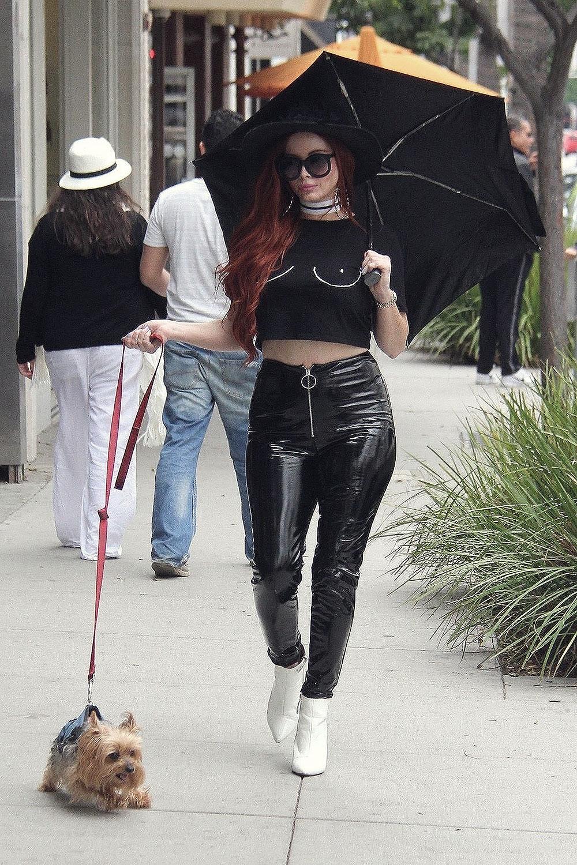 Phoebe Price Walk In La Leather Celebrities