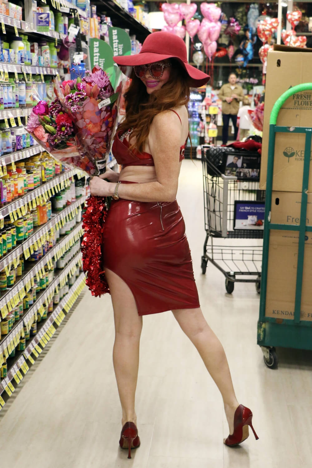 Phoebe Price displays her Valentine's Day outfit shopping