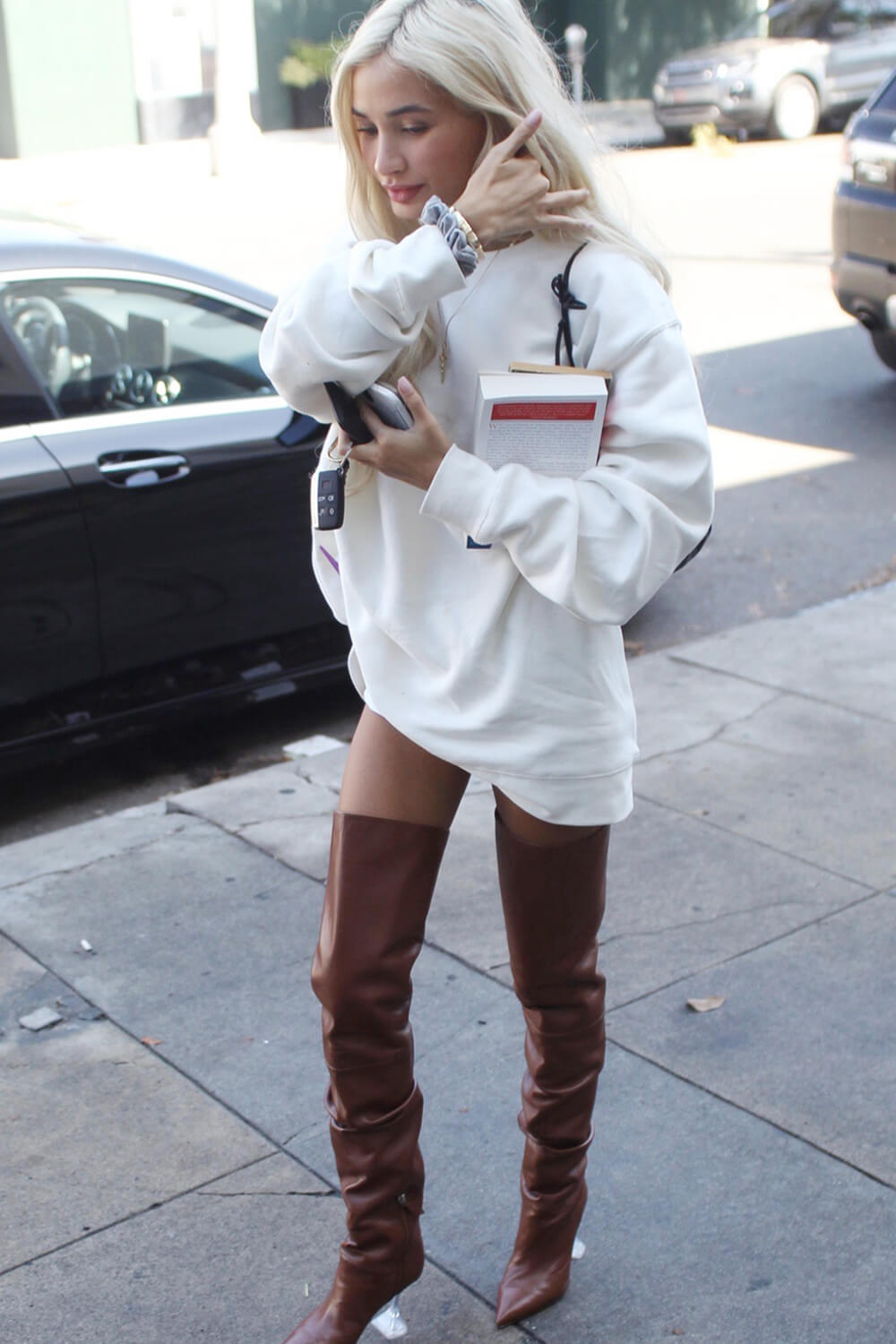 Pia Mia steps out for some shopping