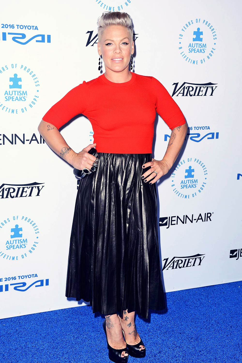 Pink attends Autism Speaks To Los Angeles Celebrity Chef Gala