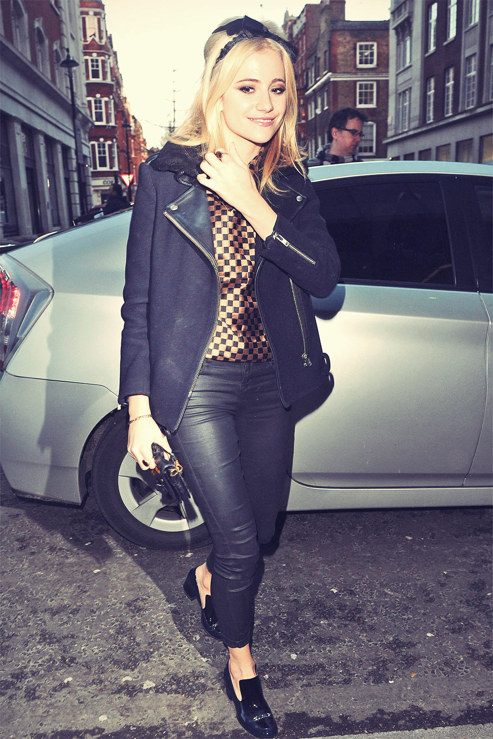 Pixie Lott Arriving at Radio 1 Studios