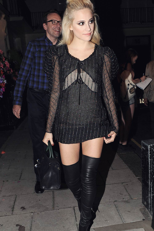 Pixie Lott Leaving The Haymarket Theatre Leather Celebrities