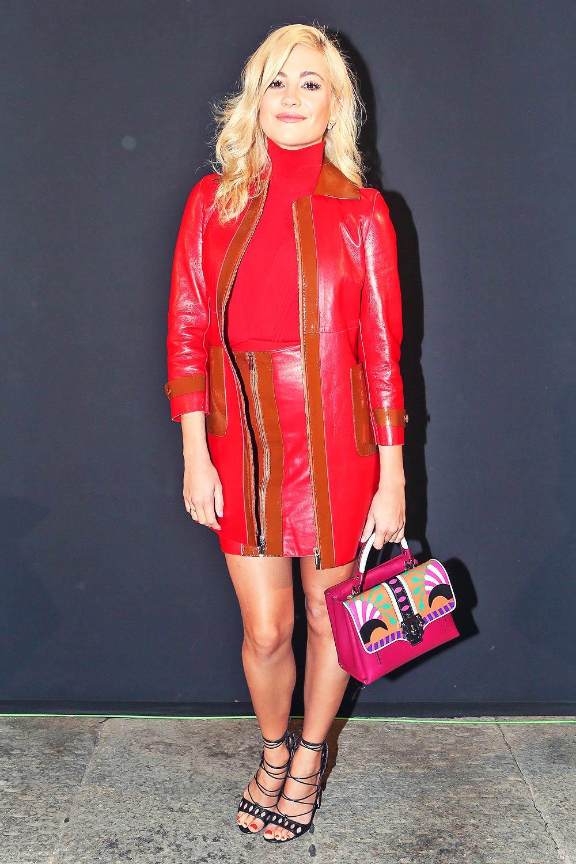 Pixie Lott at Blumarine Show During Milan Fashion Week