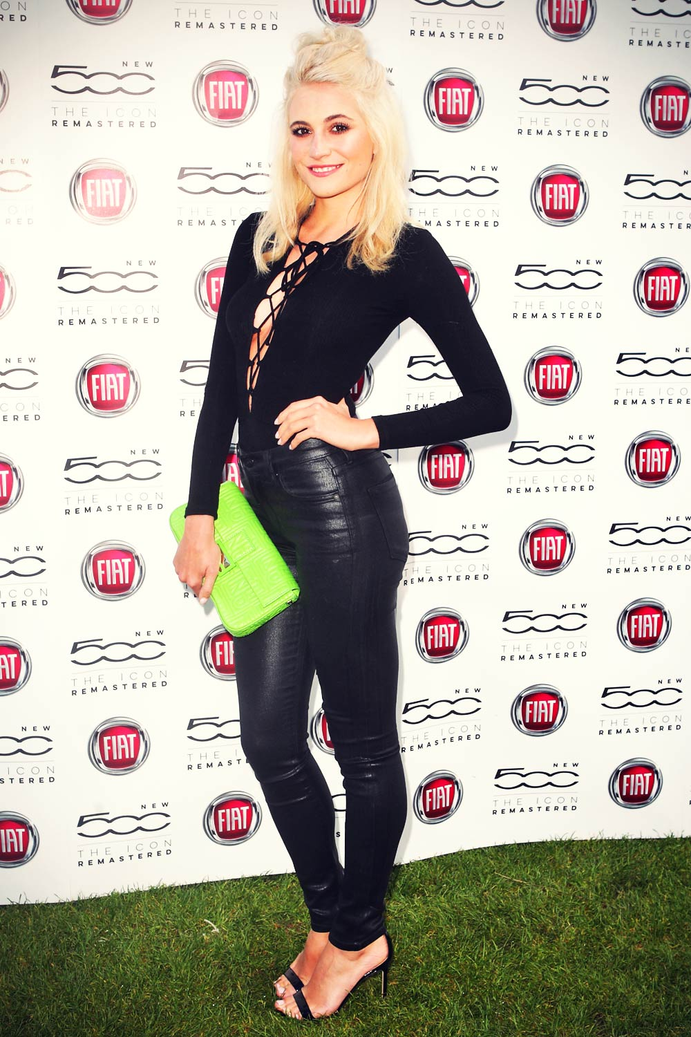 Pixie Lott attends launch of the new Fiat 500