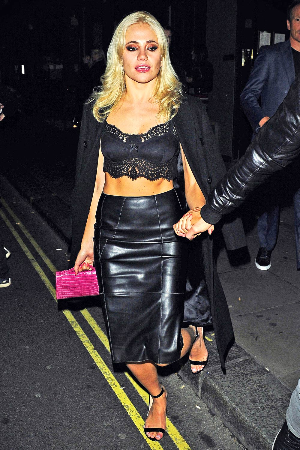 Pixie Lott Leaving The Carousel In London Leather