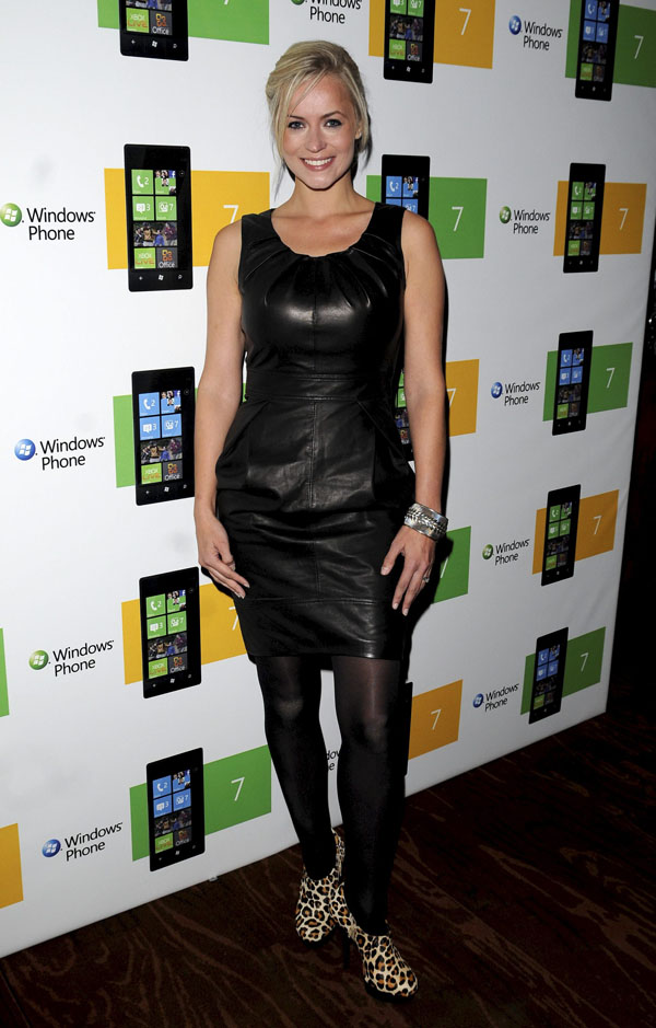 Pollyanna Woodward attends the Windows 7 Launch Party in London