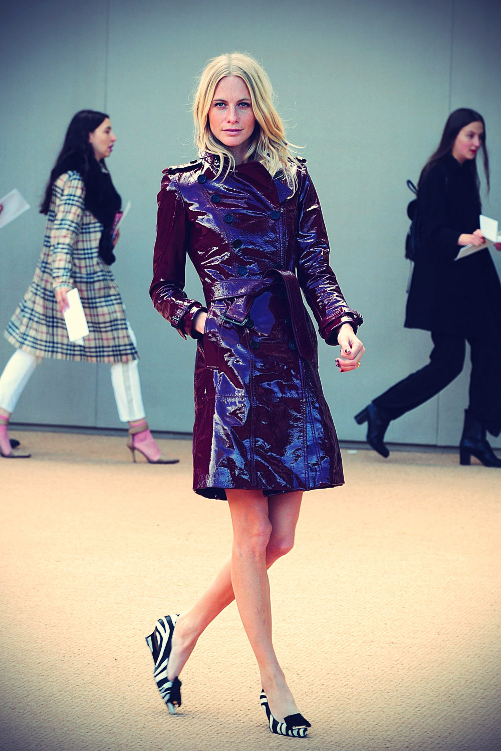 Poppy Delevingne Burberry Prorsum Womenswear Spring/Summer 2014