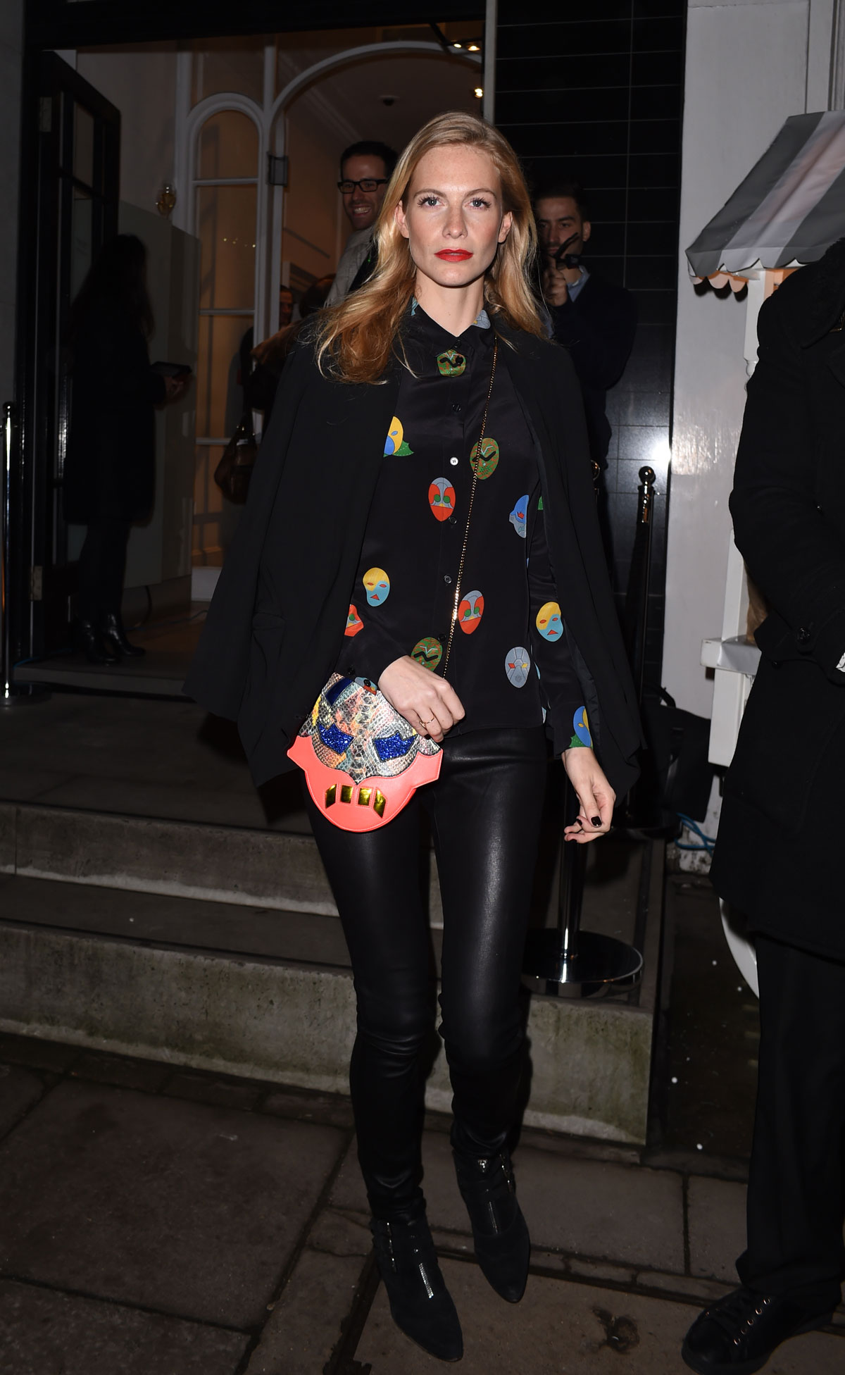 Poppy Delevingne attends the Stella McCartney Christmas Lights Switch On