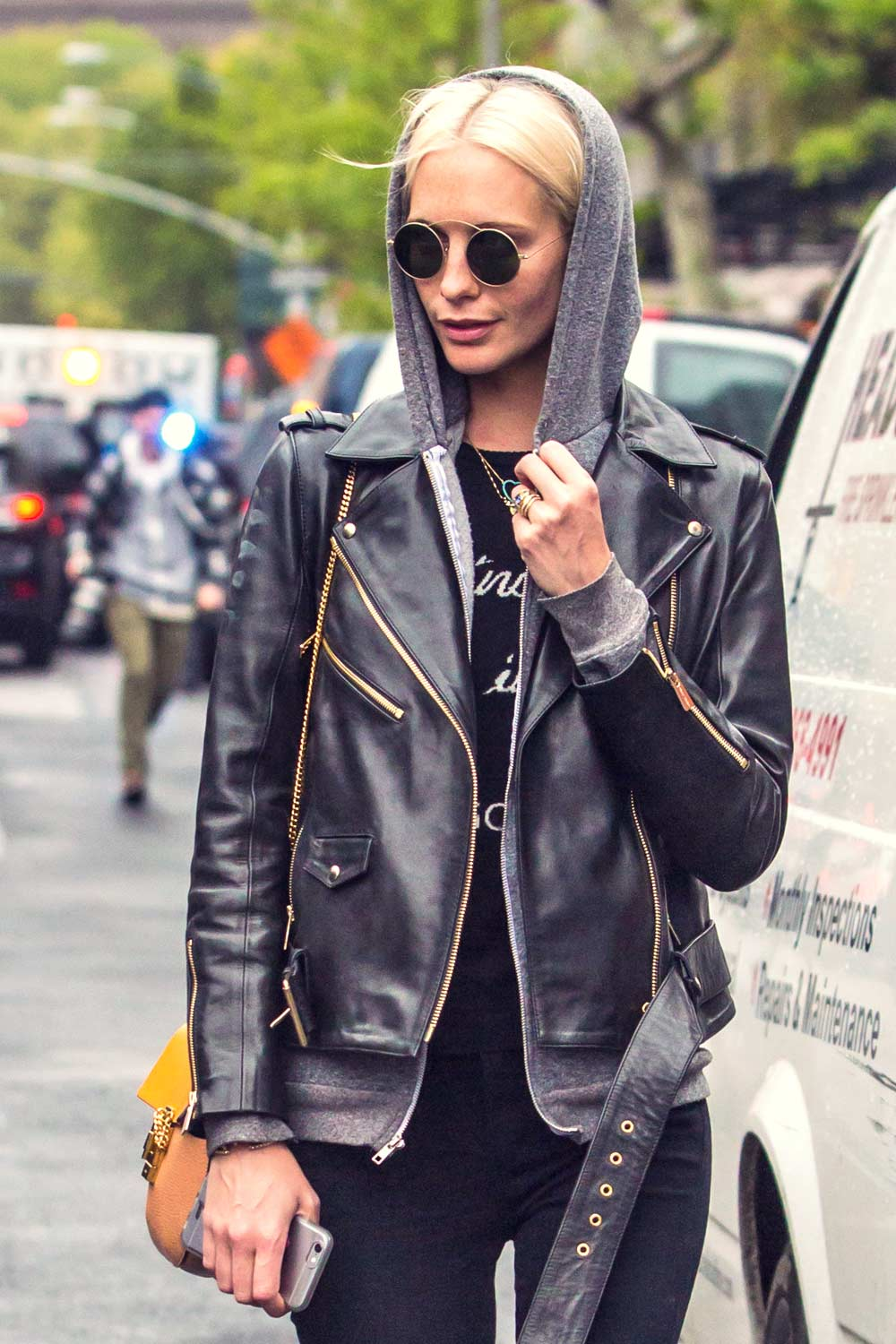 Poppy Delevingne out in The East Village