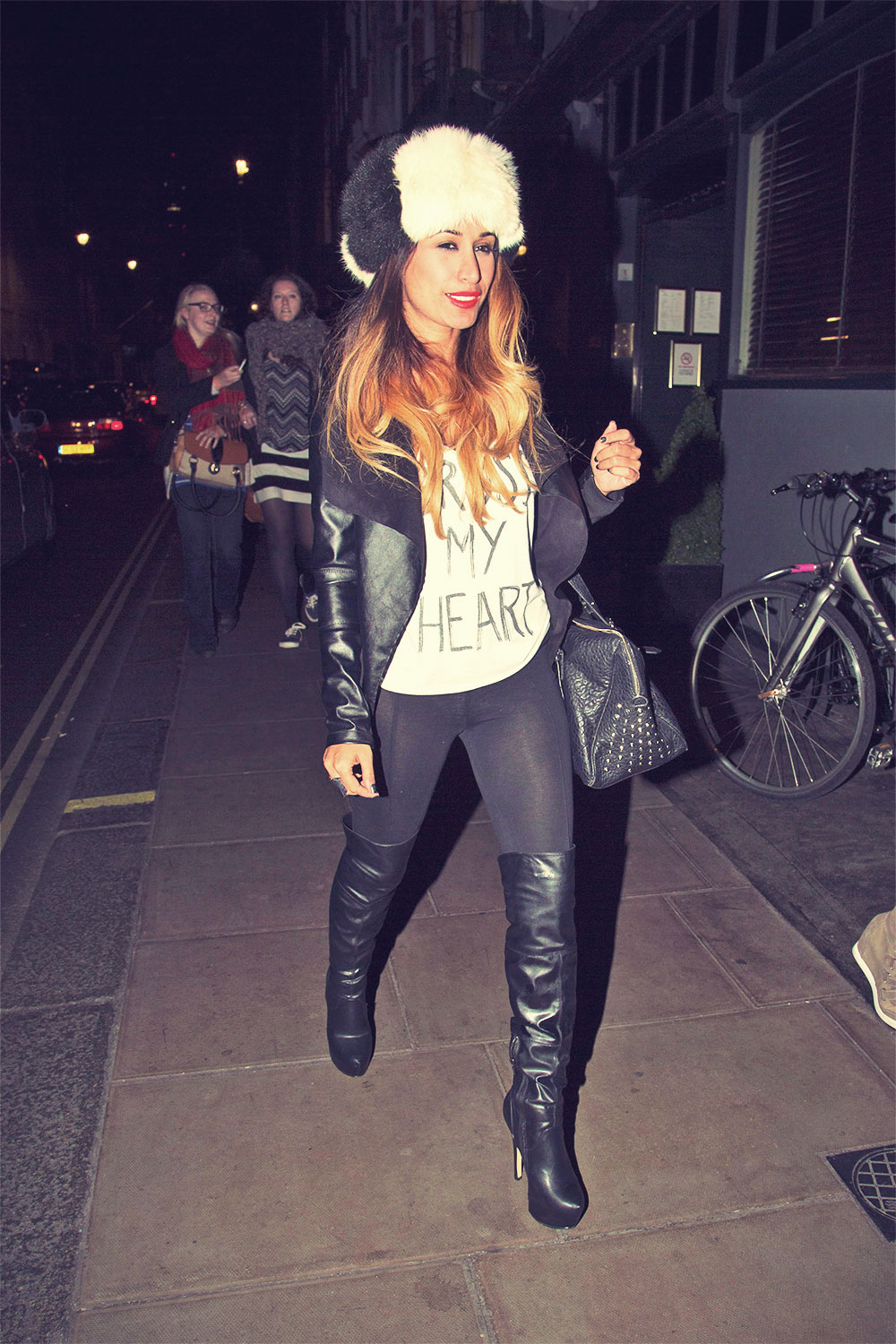 Preeya Kalidas leaving Groucho Club in Soho
