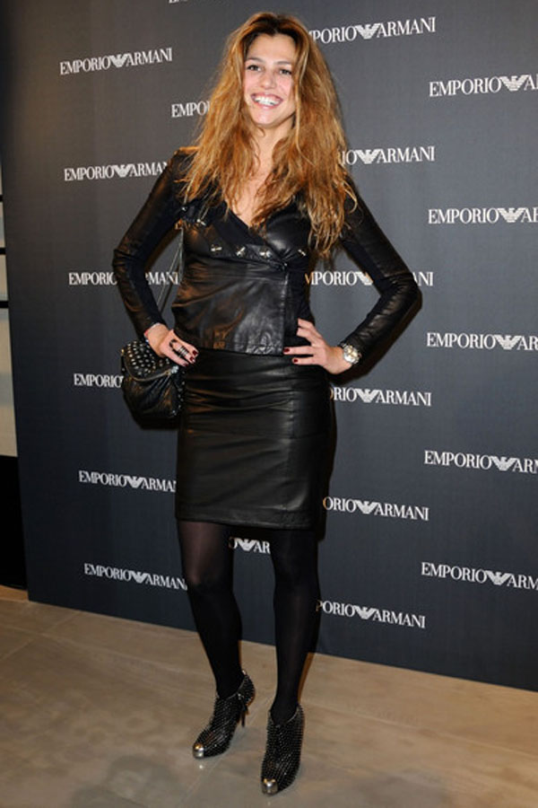 Priscilla de Laforcade at Emporio Armani new boutique