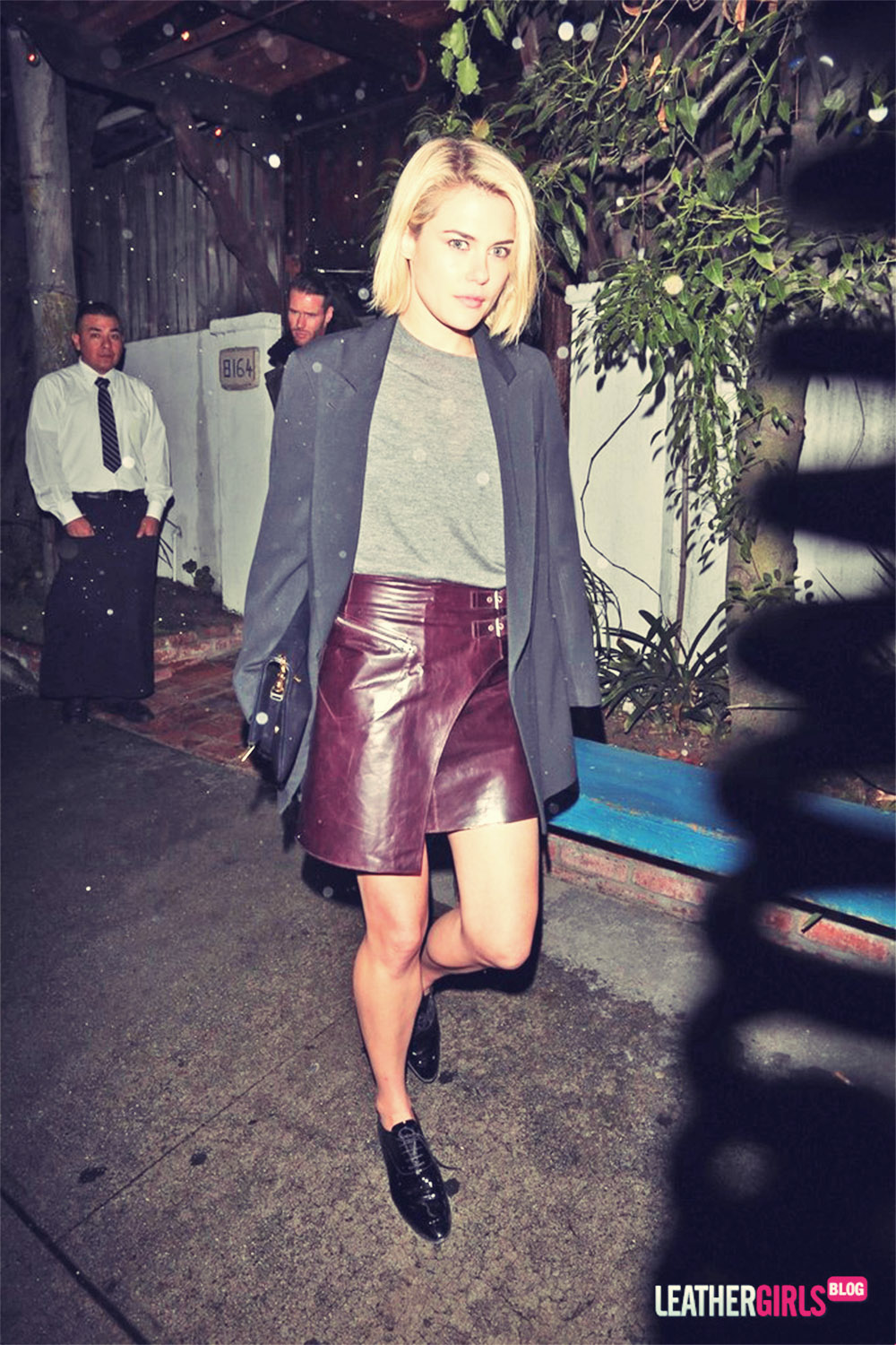 Rachael Taylor Leaves the Little Door Restaurant