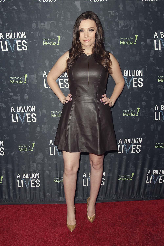 Rachel Ann Mullins arrives at the premiere of A Billion Lives