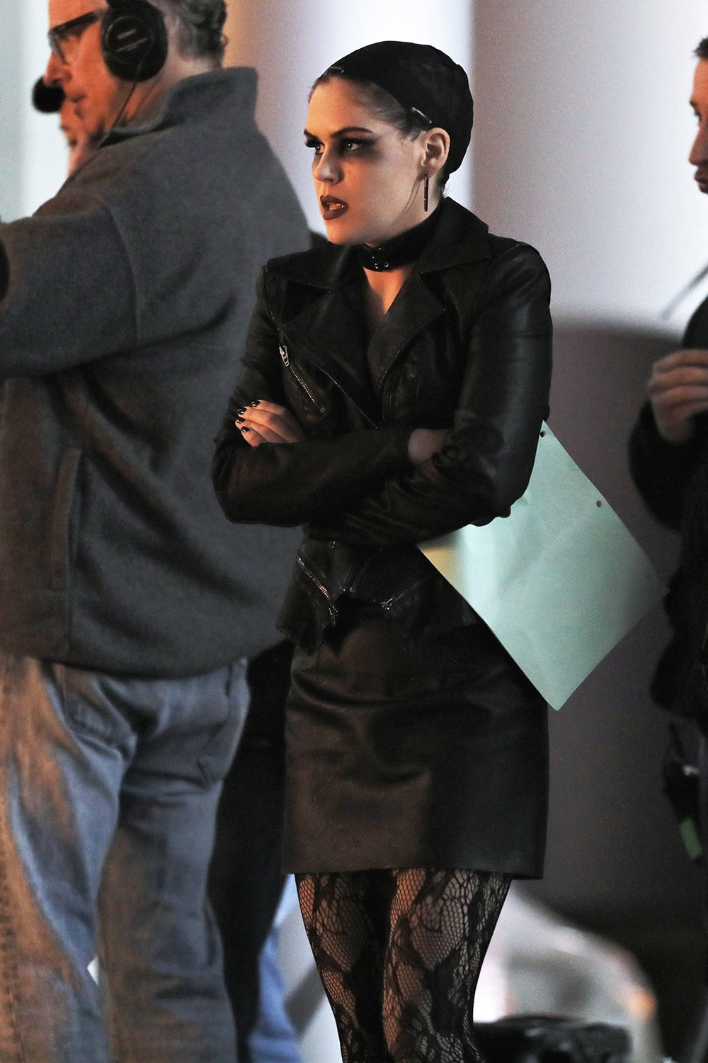 Rachel Bilson on the set of the TV show 'Take Two'