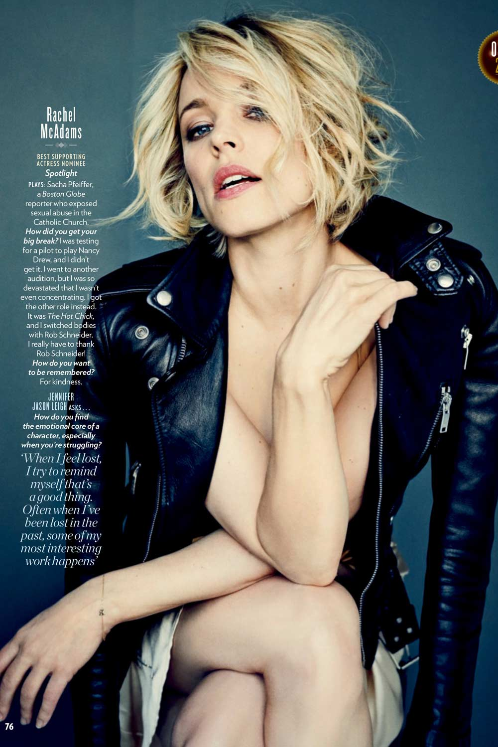 Rachel McAdams in People Magazine