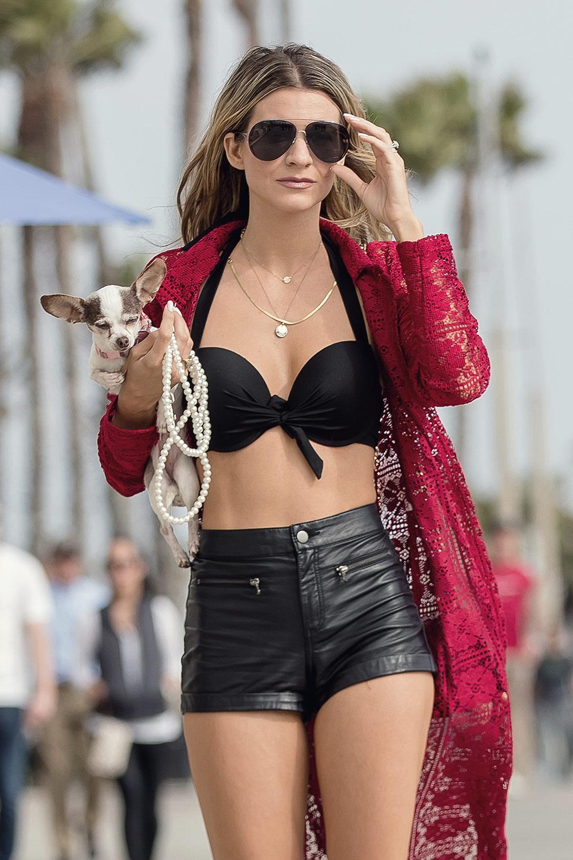 Rachel McCord out in Santa Monica