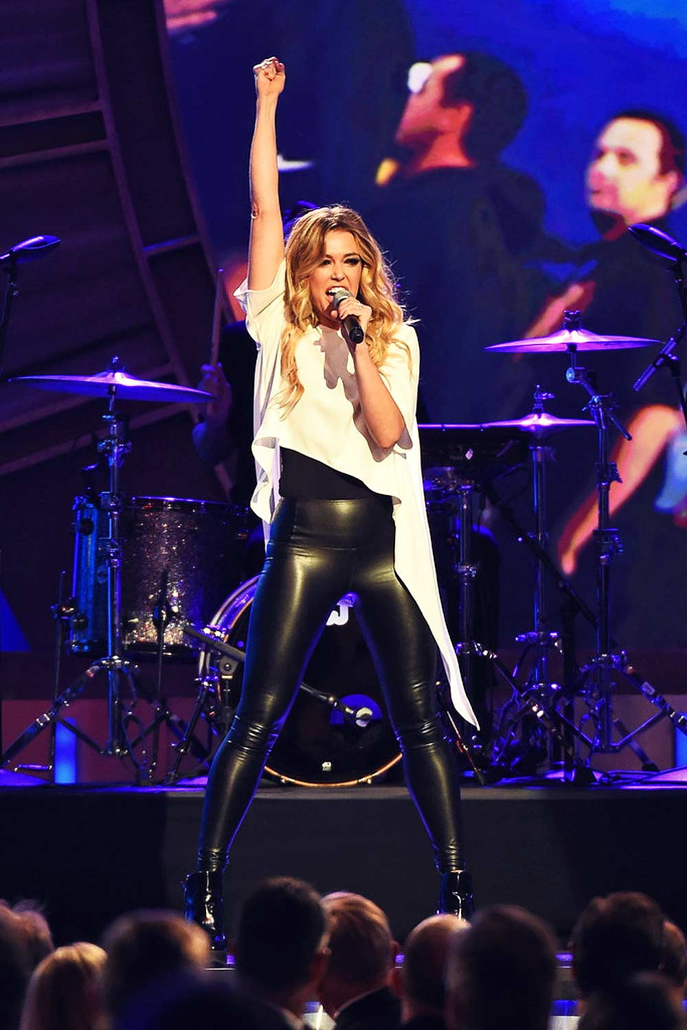 Rachel Platten performing during the 2015 NASCAR Sprint Cup Series Awards