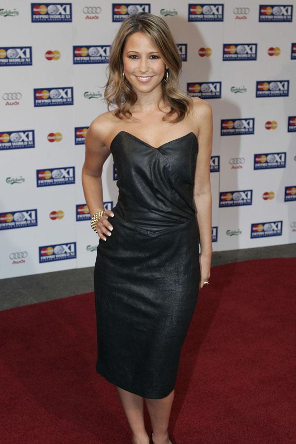 Rachel Stevens leather dress