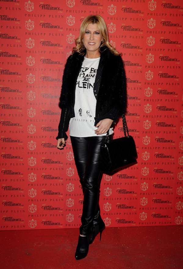 Raffaella Zardo attends the Philipp Plein fashion show as part of Milan Fashion Week Menswear