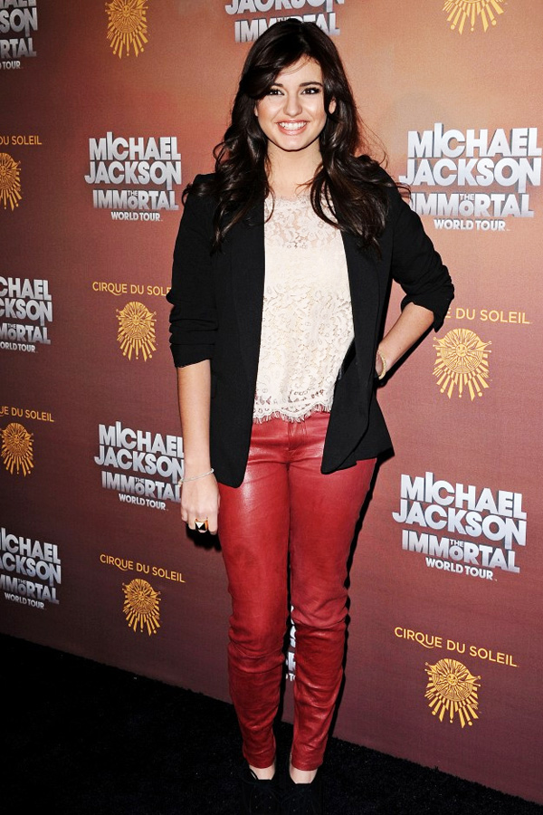 Rebecca Black attends the Los Angeles premiere of Michael Jackson