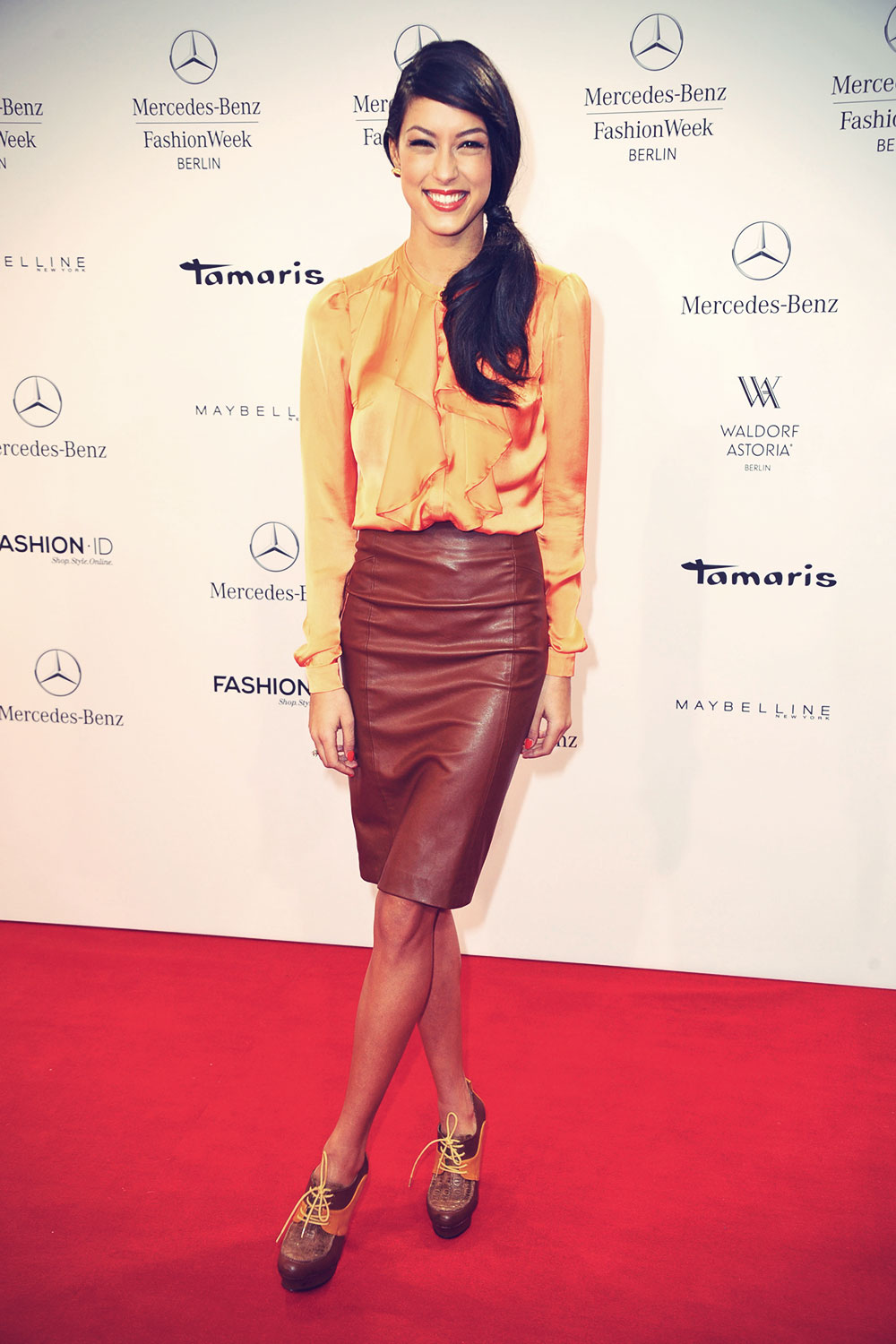 Rebecca Mir attends Lena Hoschek Fashion Show
