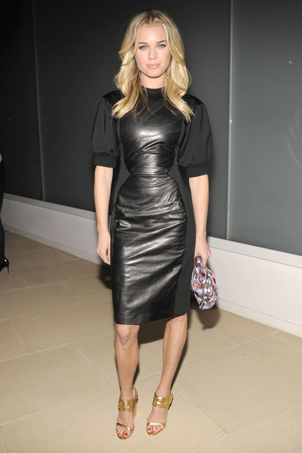 Rebecca Romijn at Cynthia Rowley Fall 2012 Fashion Show during Mercedes-Benz Fashion Week in NY