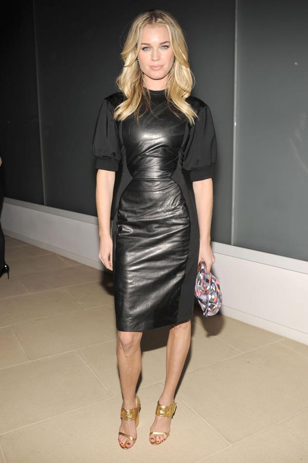 Rebecca Romijn at Cynthia Rowley Fall 2012 Fashion Show during Mercedes-Benz Fashion Week in NY