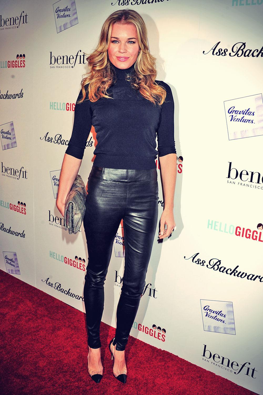 Rebecca Romijn attends Ass Backwards premiere in LA