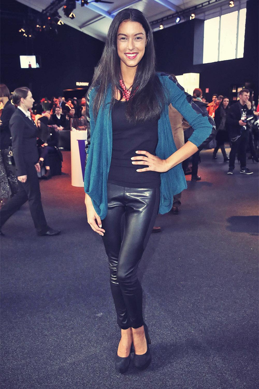 Rebecca Mir attends Mercedes-Benz Fashion Week